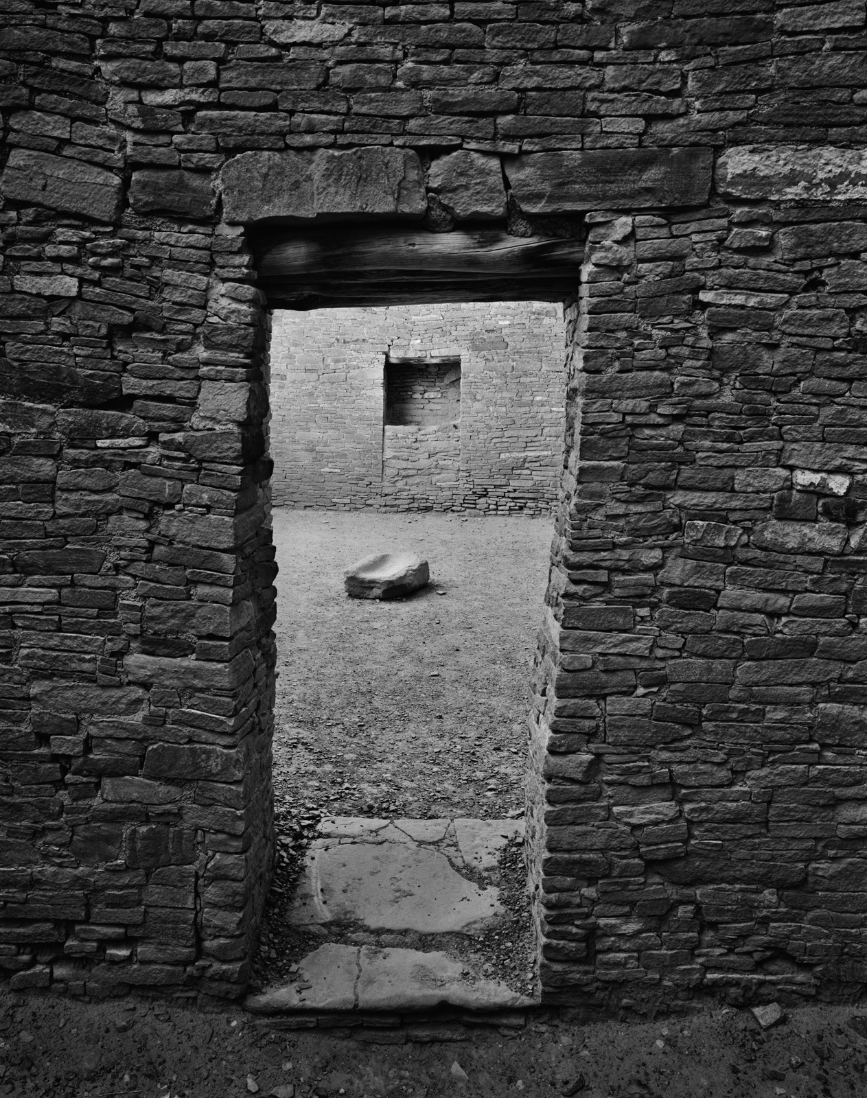 Pueblo Bonito Doorway and Ground-stone- Chaco Culture National Historical Park, New Mexico
