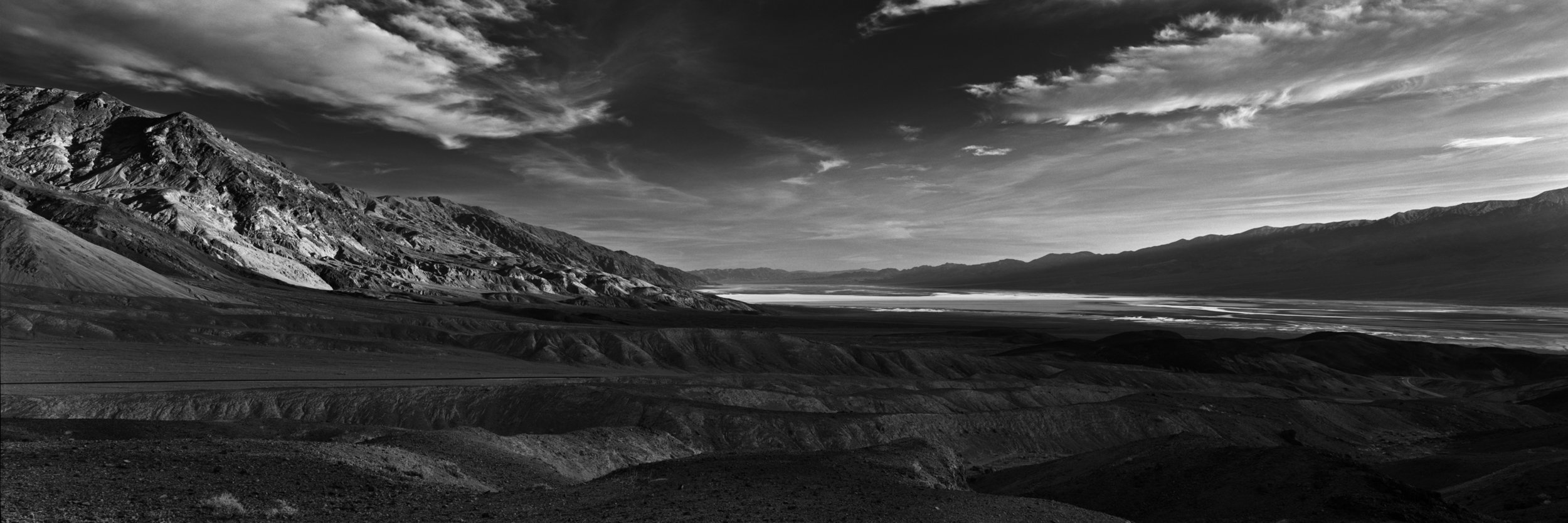 View From Artists Palette Looking South to Badwater Basin- Death Valley National Park, California and Nevada