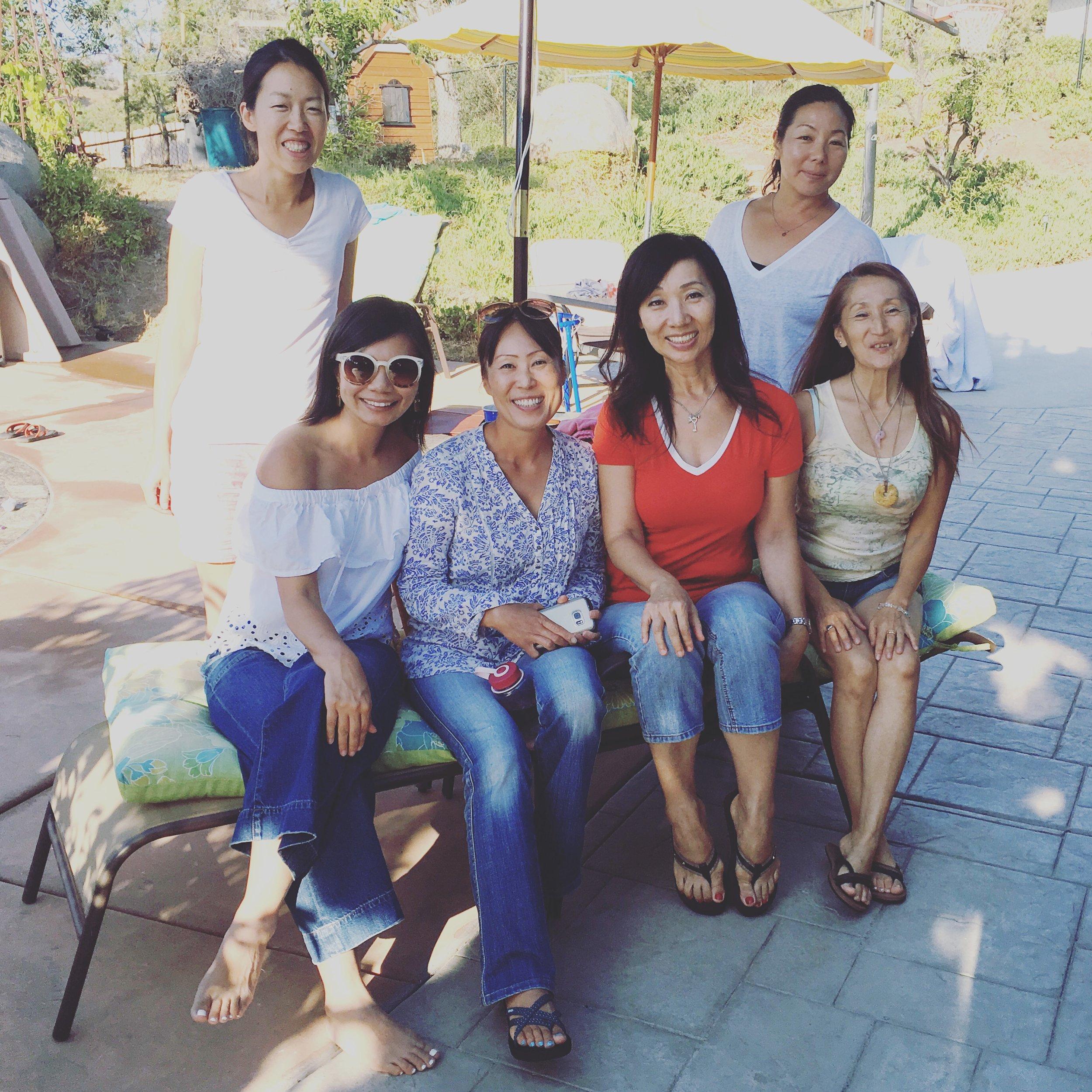サンディエゴでLALAMAMAインタビューにご協力頂いたママ達と集まりました♩