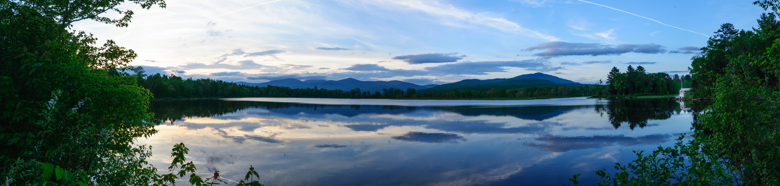 I shared a photo of Silver Lake earlier this week in my post  Ask Good Questions  and have been working on this larger panoramic view. I captured this image after a fantastic hike at Gulf Hagas, Maine USA. One of the best parts was having the trail to myself for hours of quiet exploration and creation.