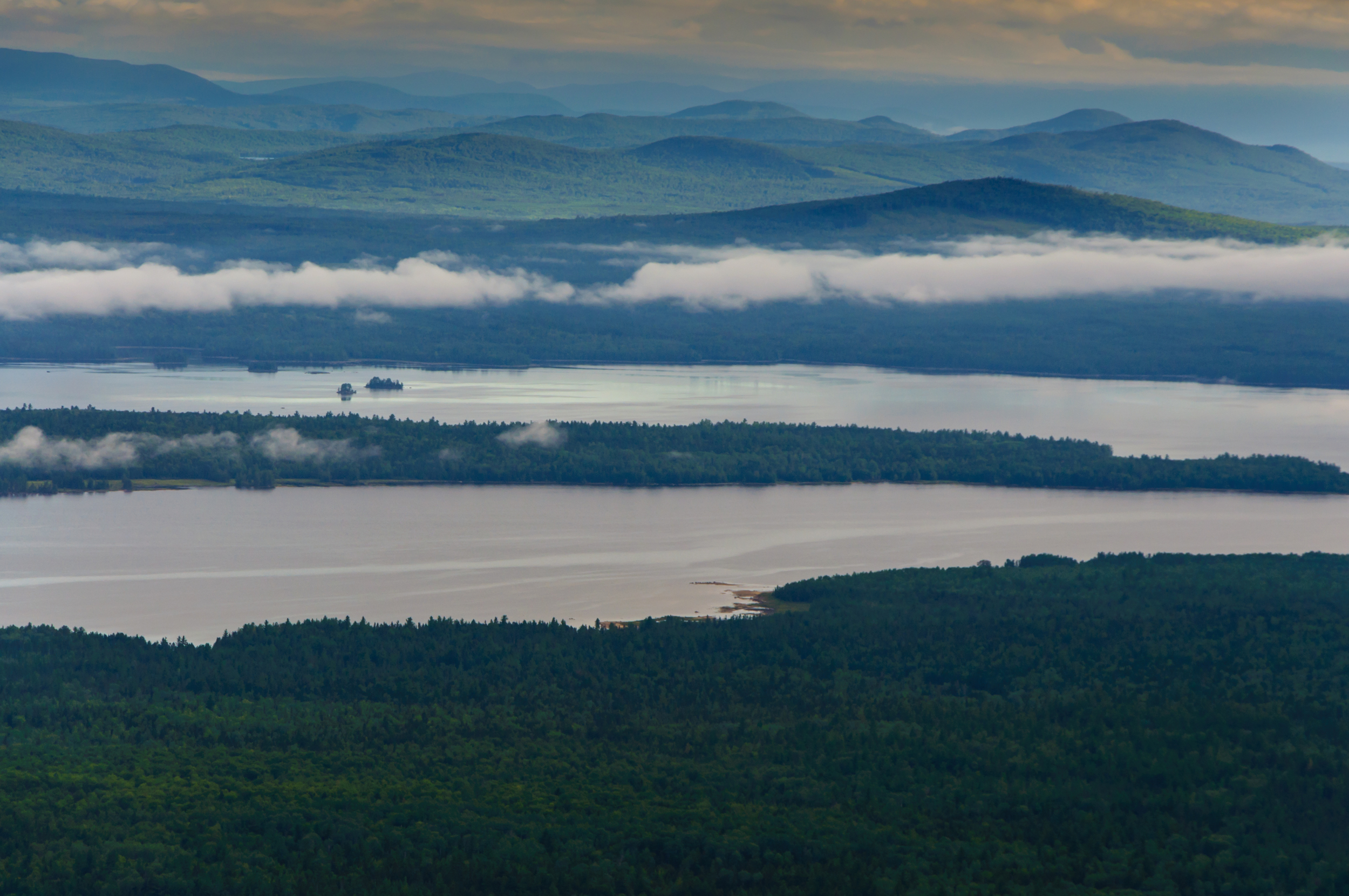 Early Morning from Cranberry Peak,Bigelow Mountain Range, Maine, USA August 2015