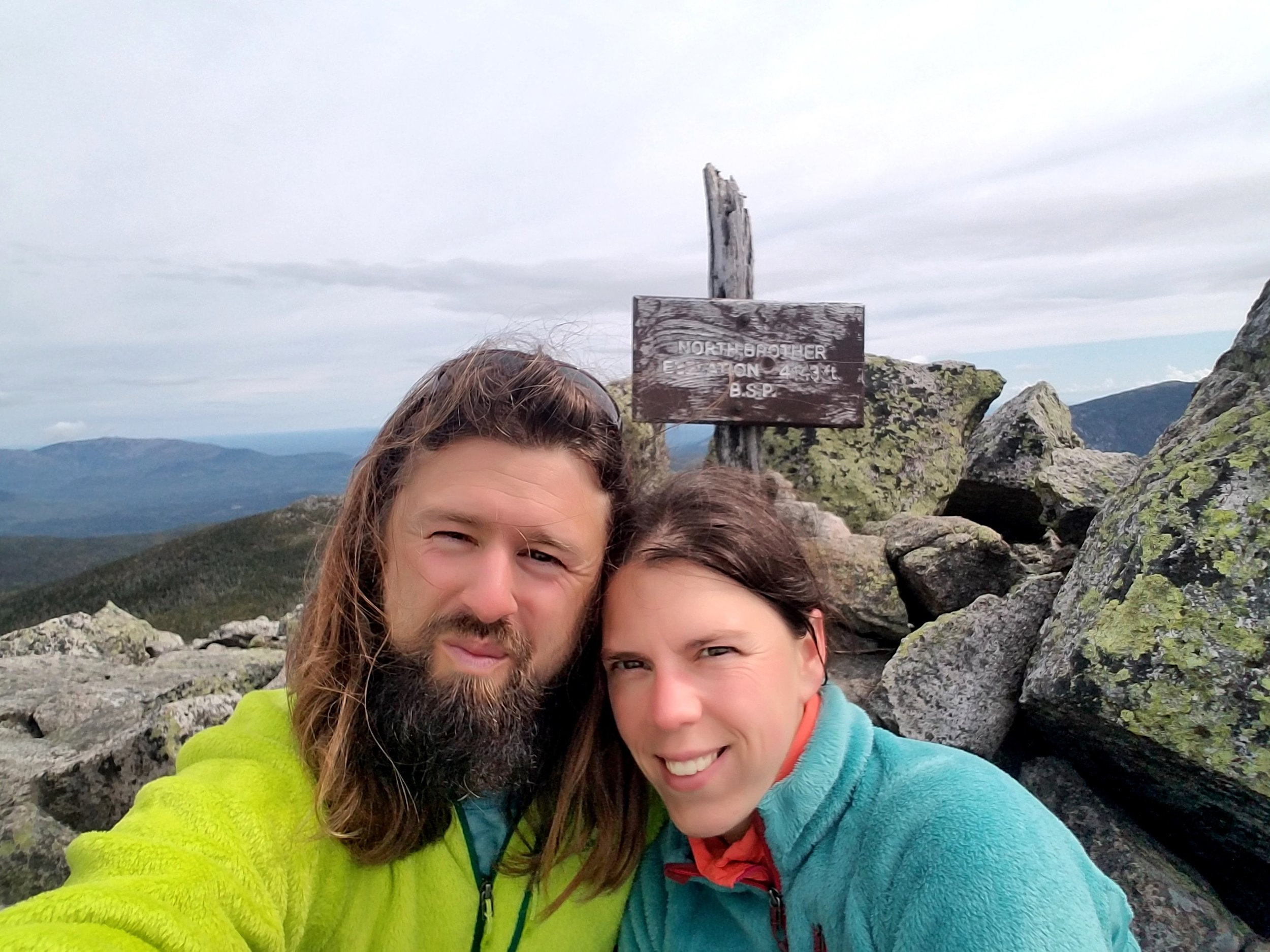 We completed Maine's 4000-footers this year. After many weekend driving and hiking miles, we completed our quest this fall at the summit of North Brother in Baxter State Park.