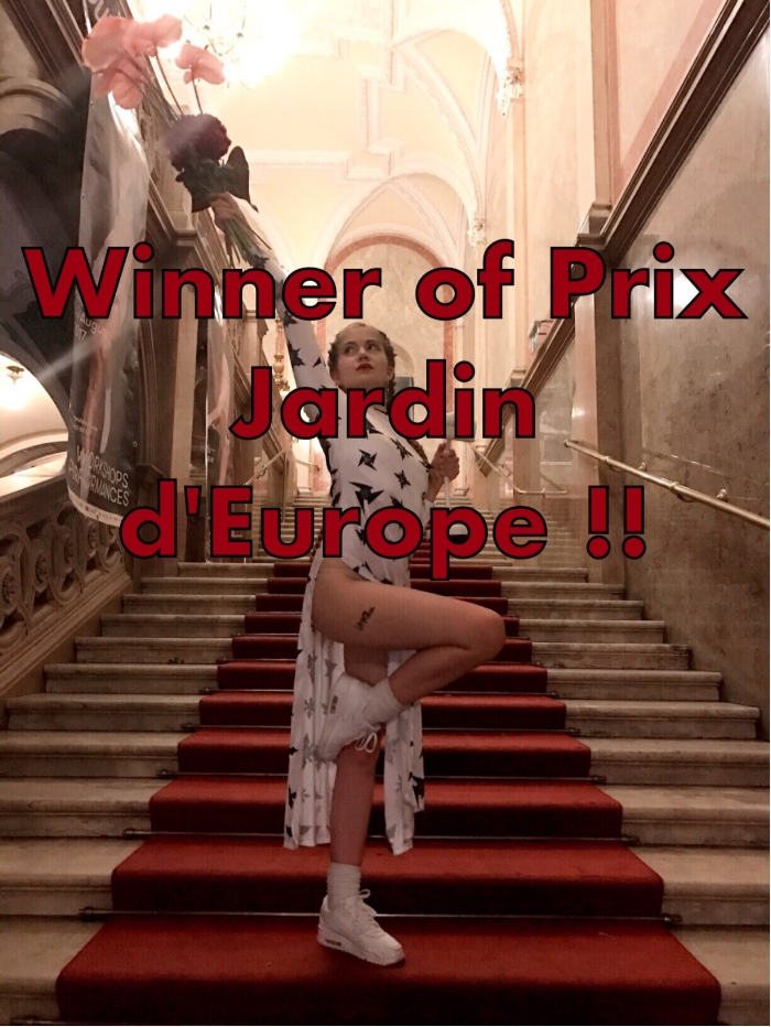 Won the Prix Jardin d'Europe at Impulstanz with Cock, Cock.. Who's There? ♥️ THANK YOU!!!! ✨    Jury statement:   ... one piece, in particular, got under our skin and kept returning to us. The issues it raised and dealt with did not settle on a closure either in the work itself or in our discussions. Through a skillful interweaving of multiple genres such as live performance, creative documentary, and docu-fiction,  Cock, Cock Who's There?  by Samira Elagoz performs a series of unsettling, thought-provoking boundary-crossings. In its investigation on the longing for intimacy and connection, it traverses the gray spaces between violence and intimacy; reality and fiction; life and art; the public and the private; victimhood and agency, and between and within the multiple roles one embodies.