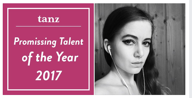 Thanks German Tanz Magazine for making me one of their selection in the yearbook 2017