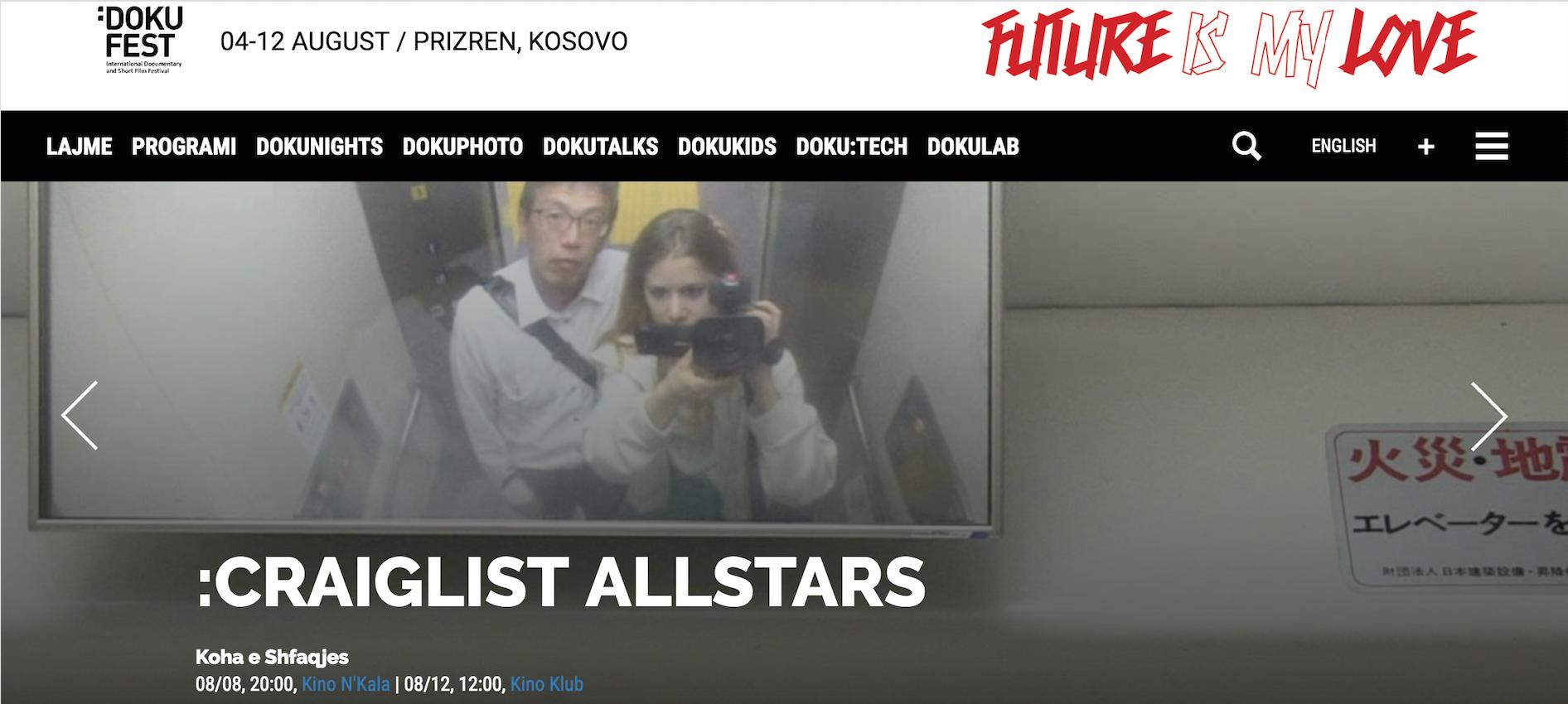 Craigslist Allstars at Doku Fest Kosovo 8th & 12th of August