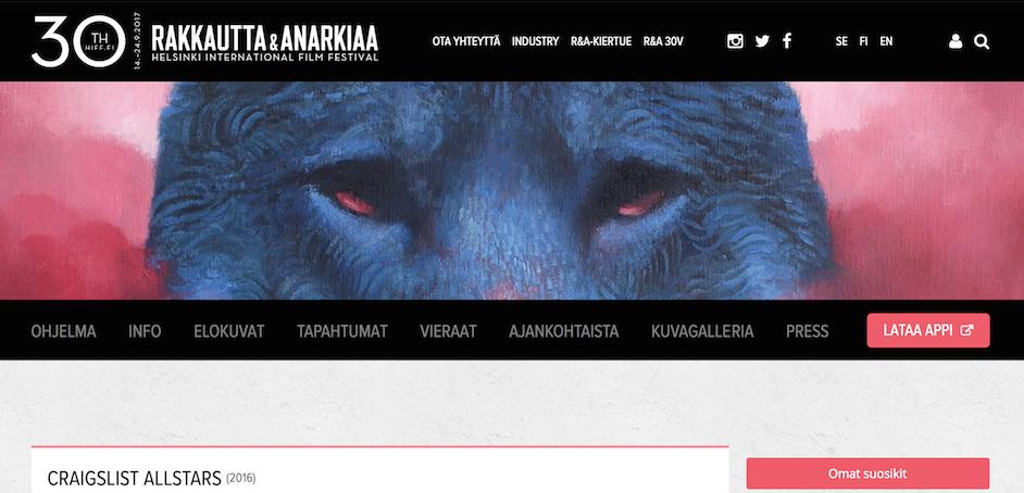 Craigslist Allstars at the Helsinki International Film Festival Love & Anarchy on 17, 18, 20, 24th of September
