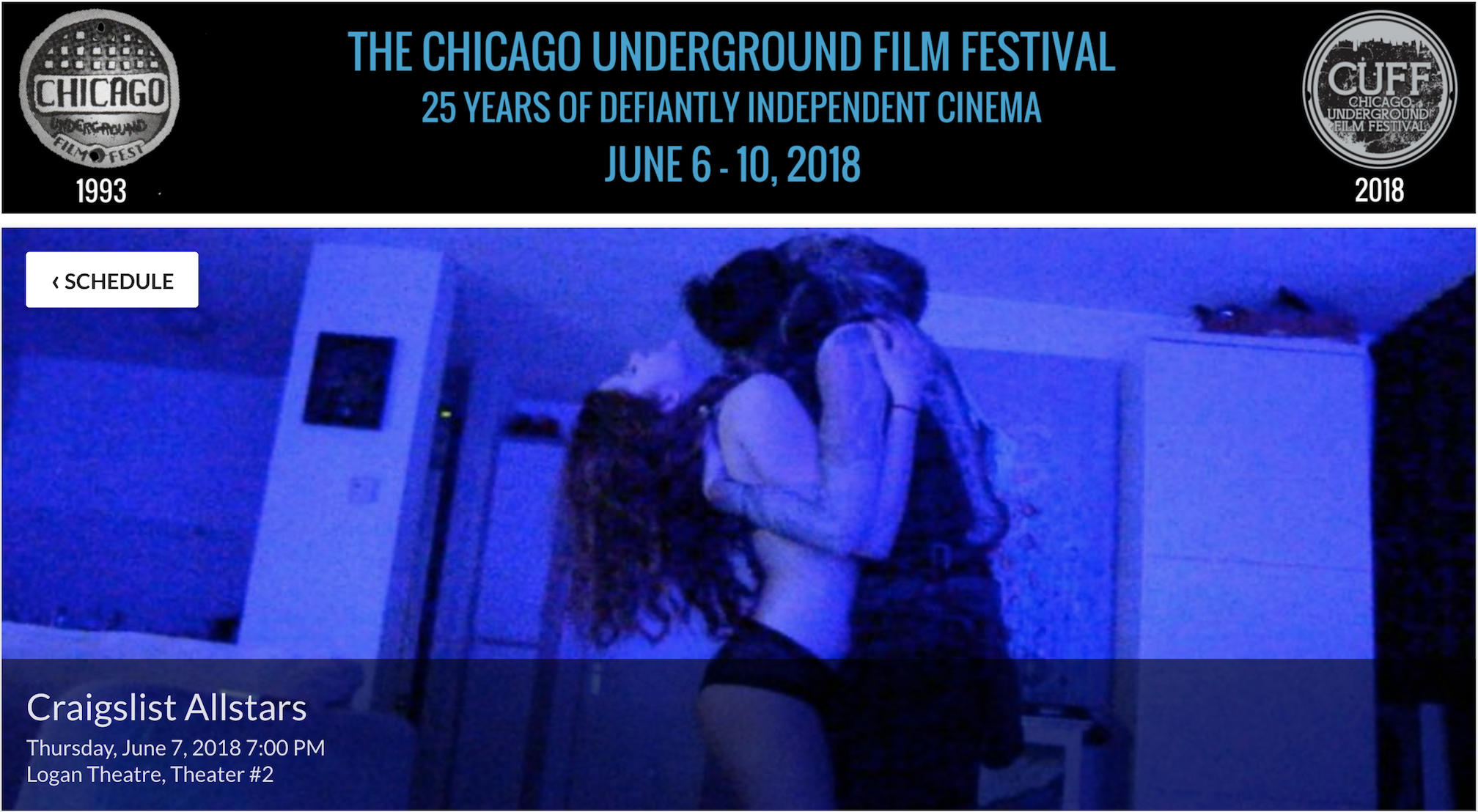 Craigslist Allstars playing at The Chicago Underground Film Festival 7th of June.