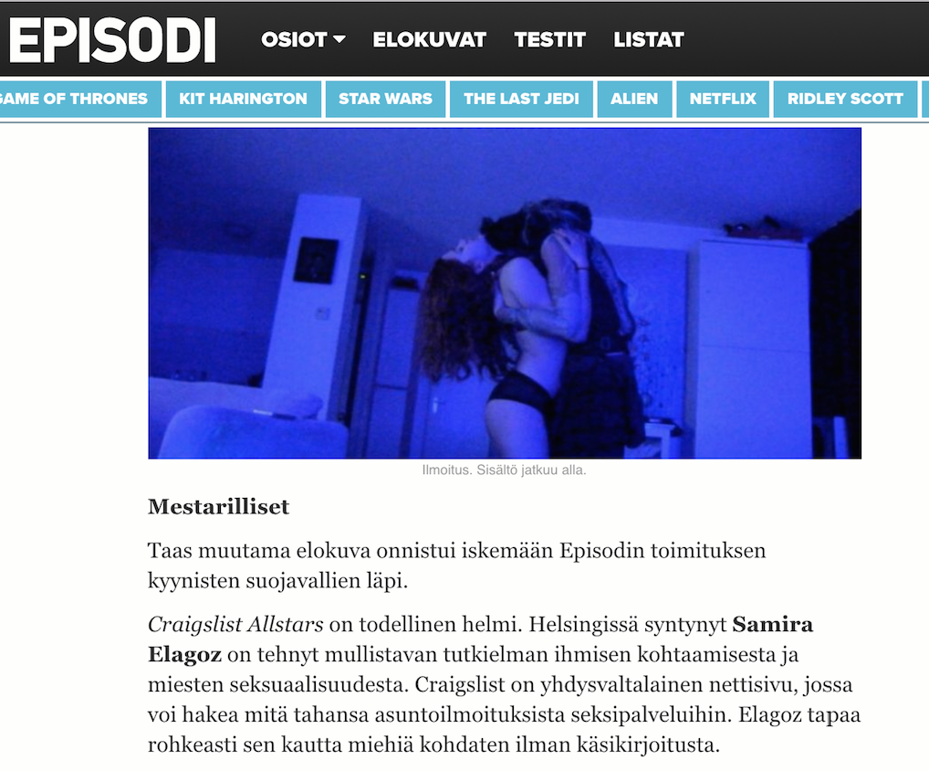 "EPISODI.FI    Review: ( ★★★★★ )  ""Masterful, Craigslist Allstars is a true pearl"""