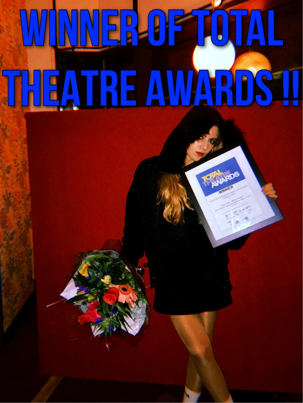 I won the Total Theatre Awards Emerging category at the Edinburgh Fringe Festival !!! <3