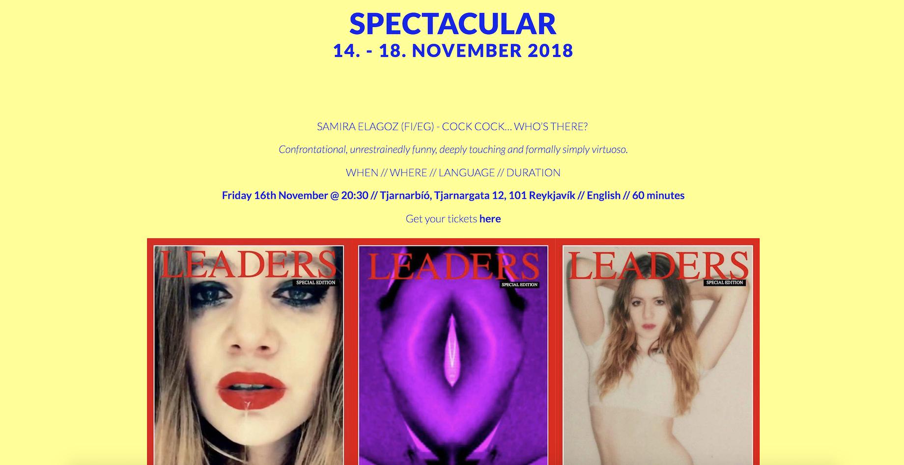 COCK COCK @ SPECTACULAR FESTIVAL, REYKJAVIK, 16th OF NOVEMBER