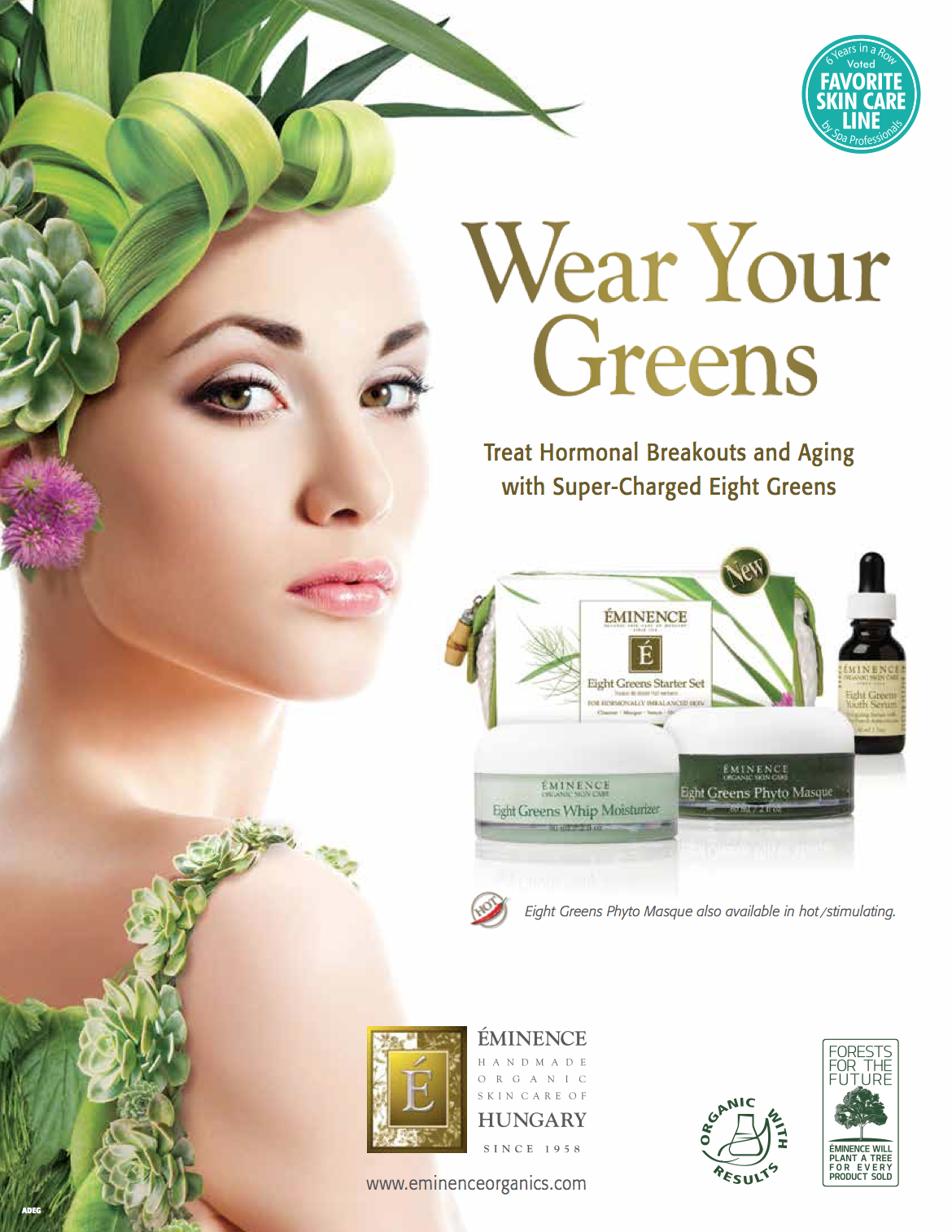 Treat hormonal breakouts and aging with super-charged eight greens.