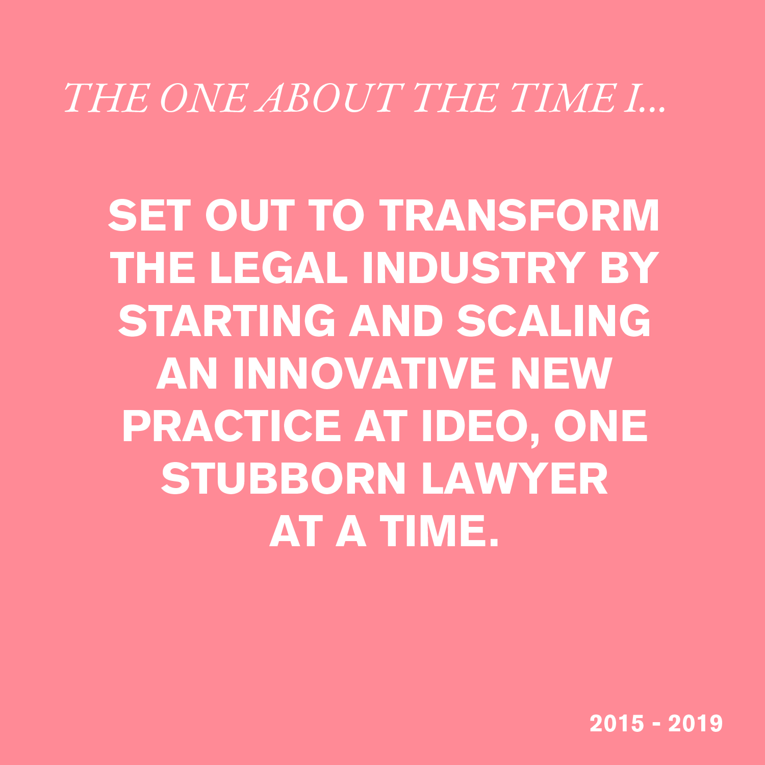 IDEO Legal Innovation