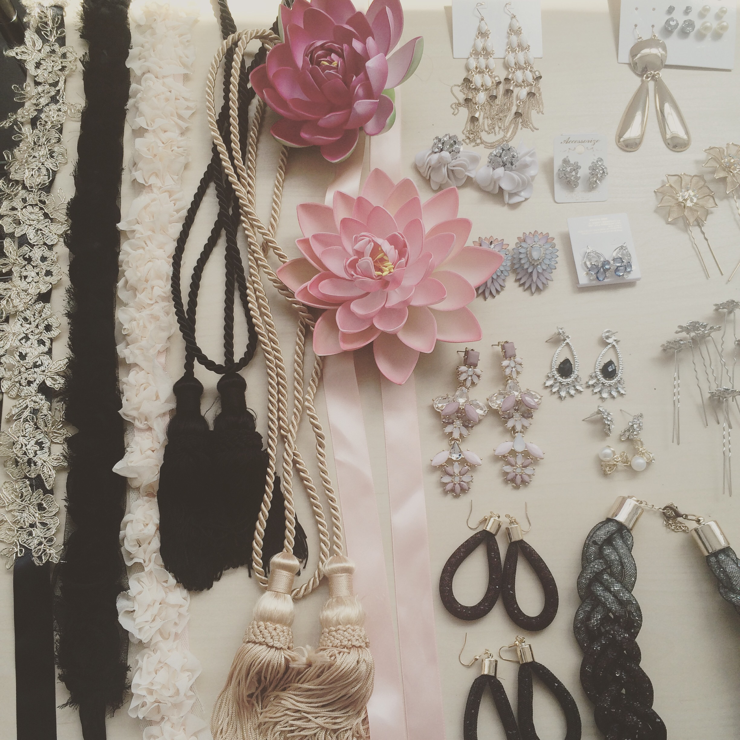 The accessories. Floral headbands are hand crafted by me!