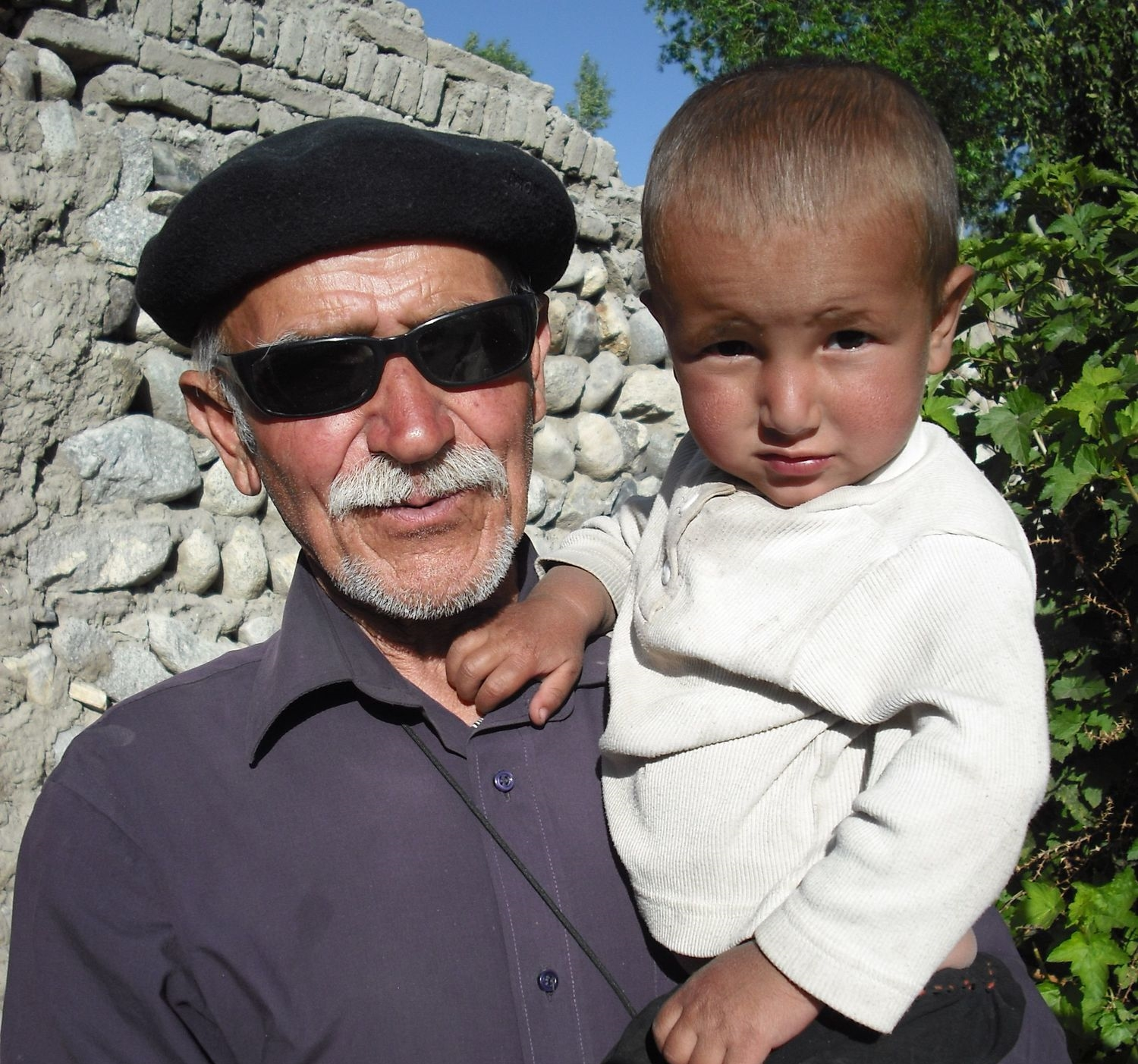 Shirinbek and an Afghan relative