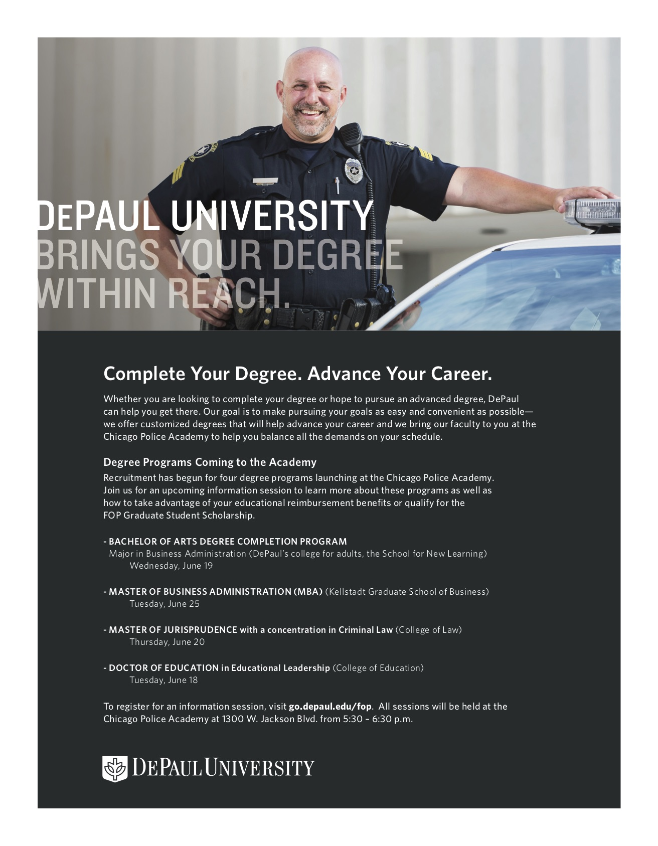 DePaul University Information Sessions — Fraternal Order of