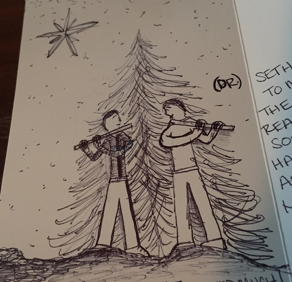 Christmas card from my friend Lauren
