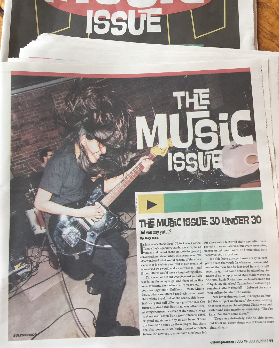 Tampa Native and Propagandhi Guitarist Sulynn Hago is taking her talents up north - -Creative Loafing Tampa, July 2018