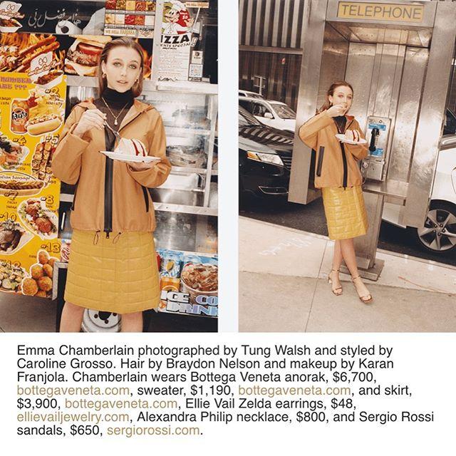Alexandra Philip shot on beauty Emma Chamberlain for W Magazine wearing the Pearl Black Onyx Baguette Necklace 🖤 #alexandraphilip #APgirls #linkinbio