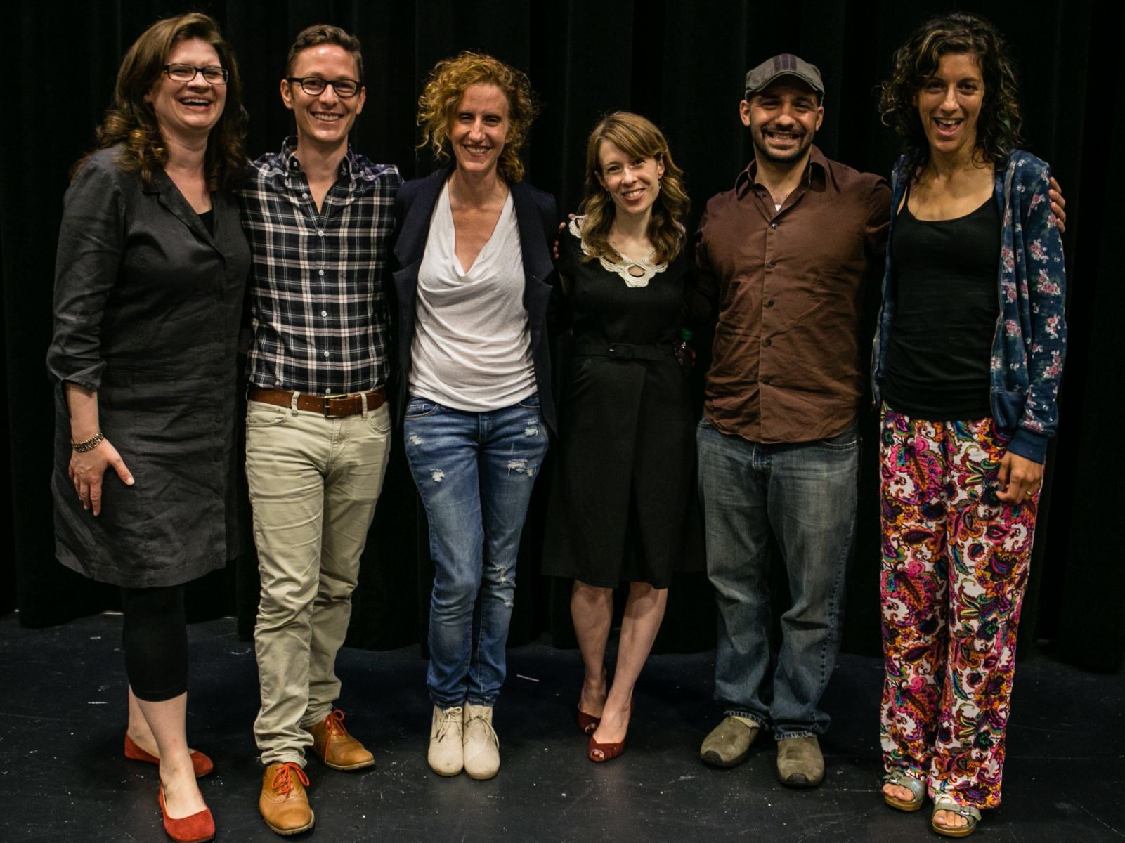Emmy with Eliot Schrefer, Gayle Forman, Margo Rabb, Daniel José Older and Abby Sher back in June 2015