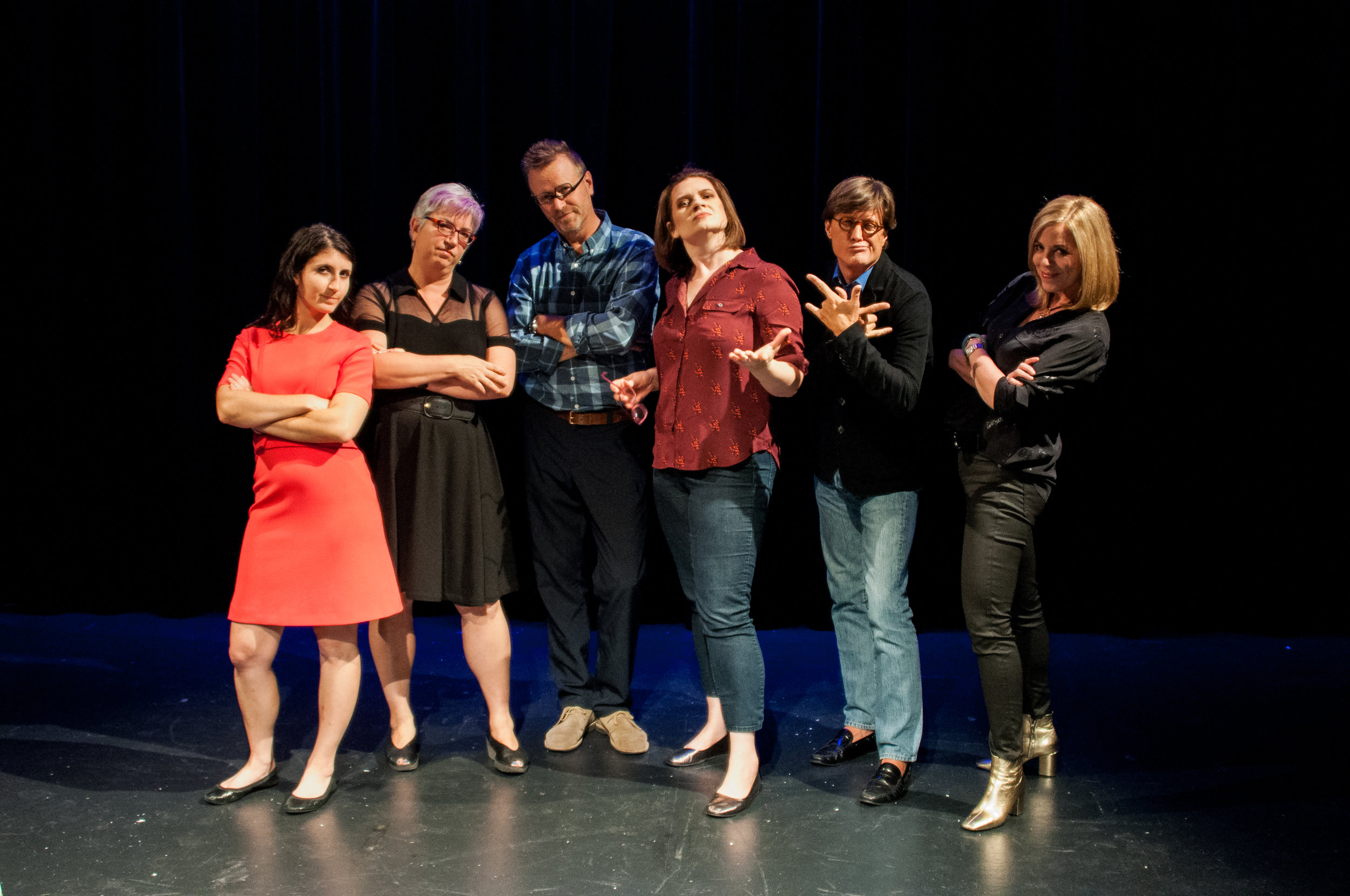 Leila Sales, Susanna Einstein, Ben Cosgrove, Emmy Laybourne, Greg Cope White and Alyson Noel exhibit a lot of attitude before the show on September 22, 2016.