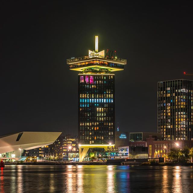 #adamtower during #amsterdamdanceevent Can you spot the party people in the club?
