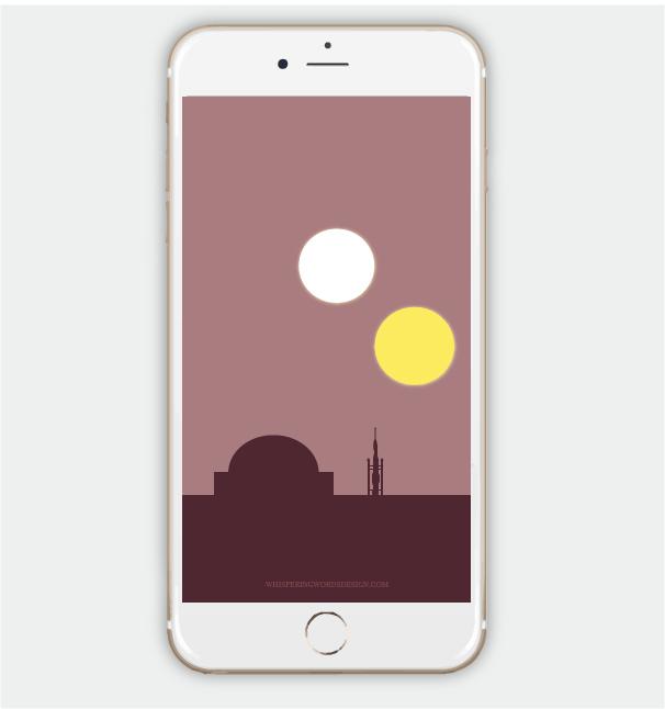 Free Tattooine iPhone wallpaper