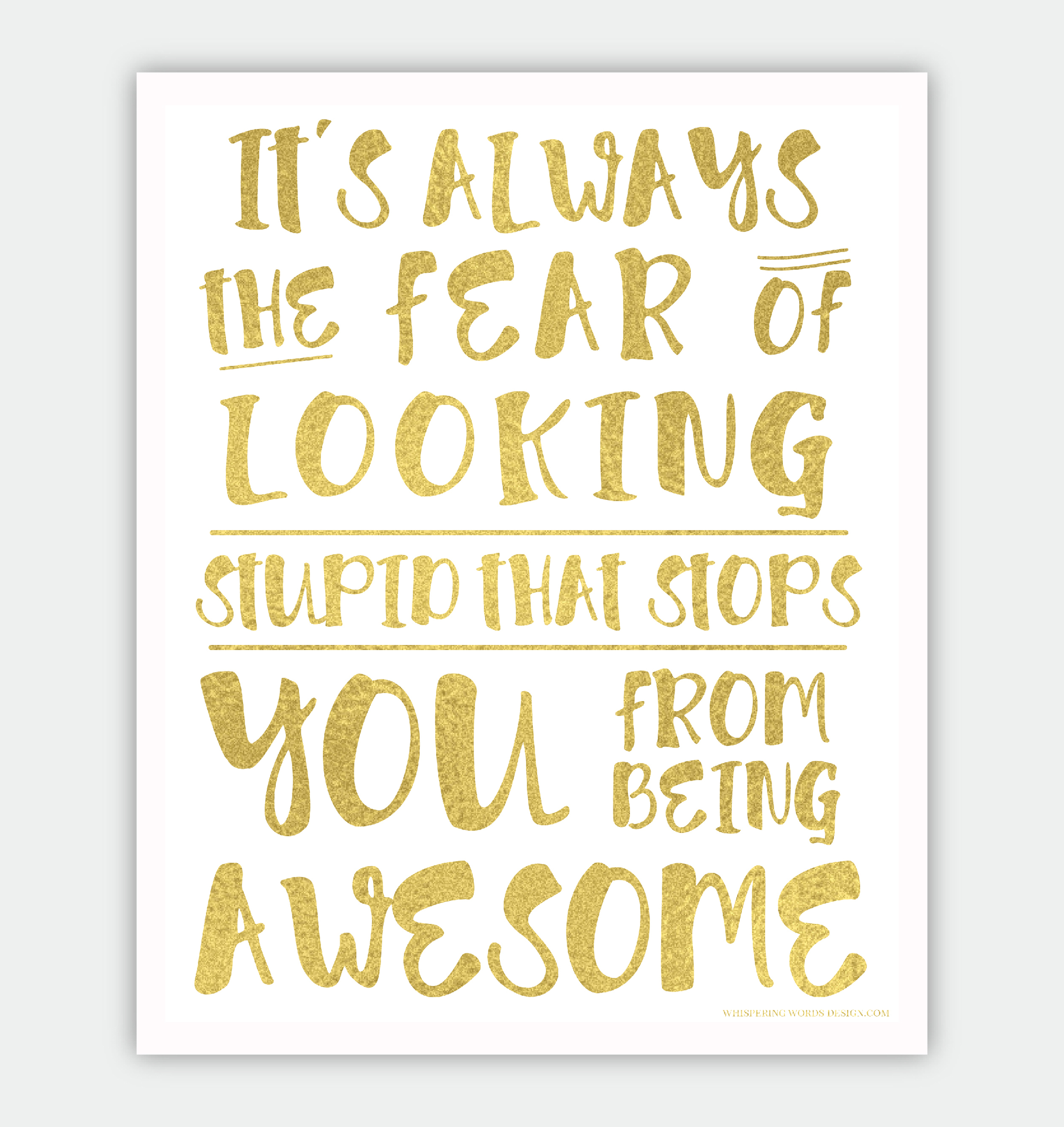 Free You Are Awesome Print