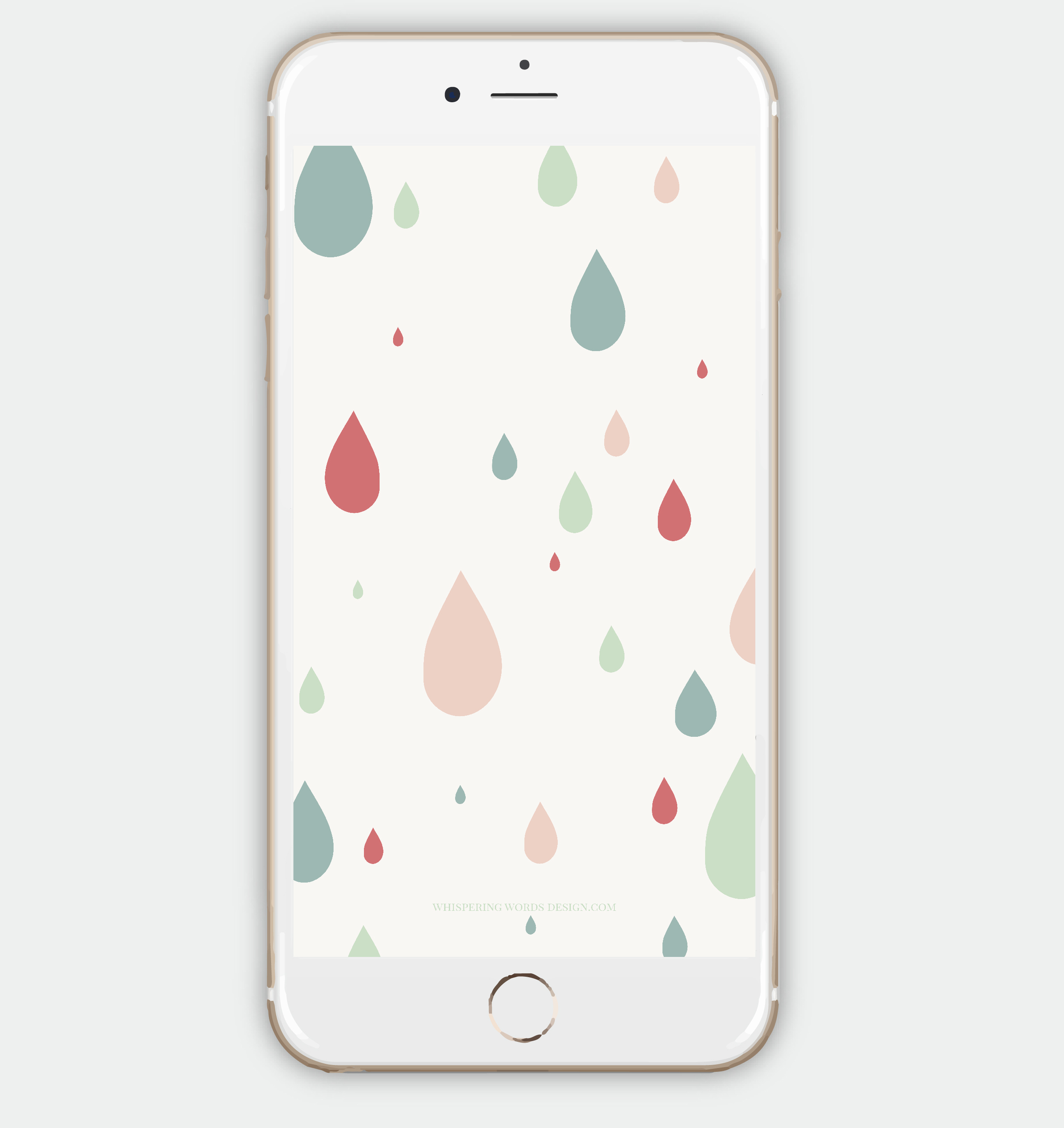 Free Rain Drops iPhone Wallpaper