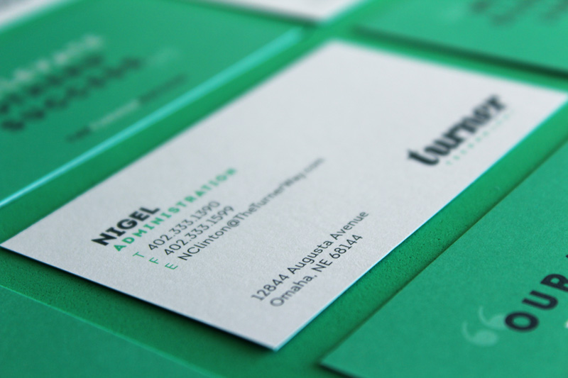 nice to meet you.really. - To emphasize Turner's commitment to customer service, the last names of employees were intentionally left off of business cards, signifying the fact that Turner prefers to work with customers on a first-name basis.