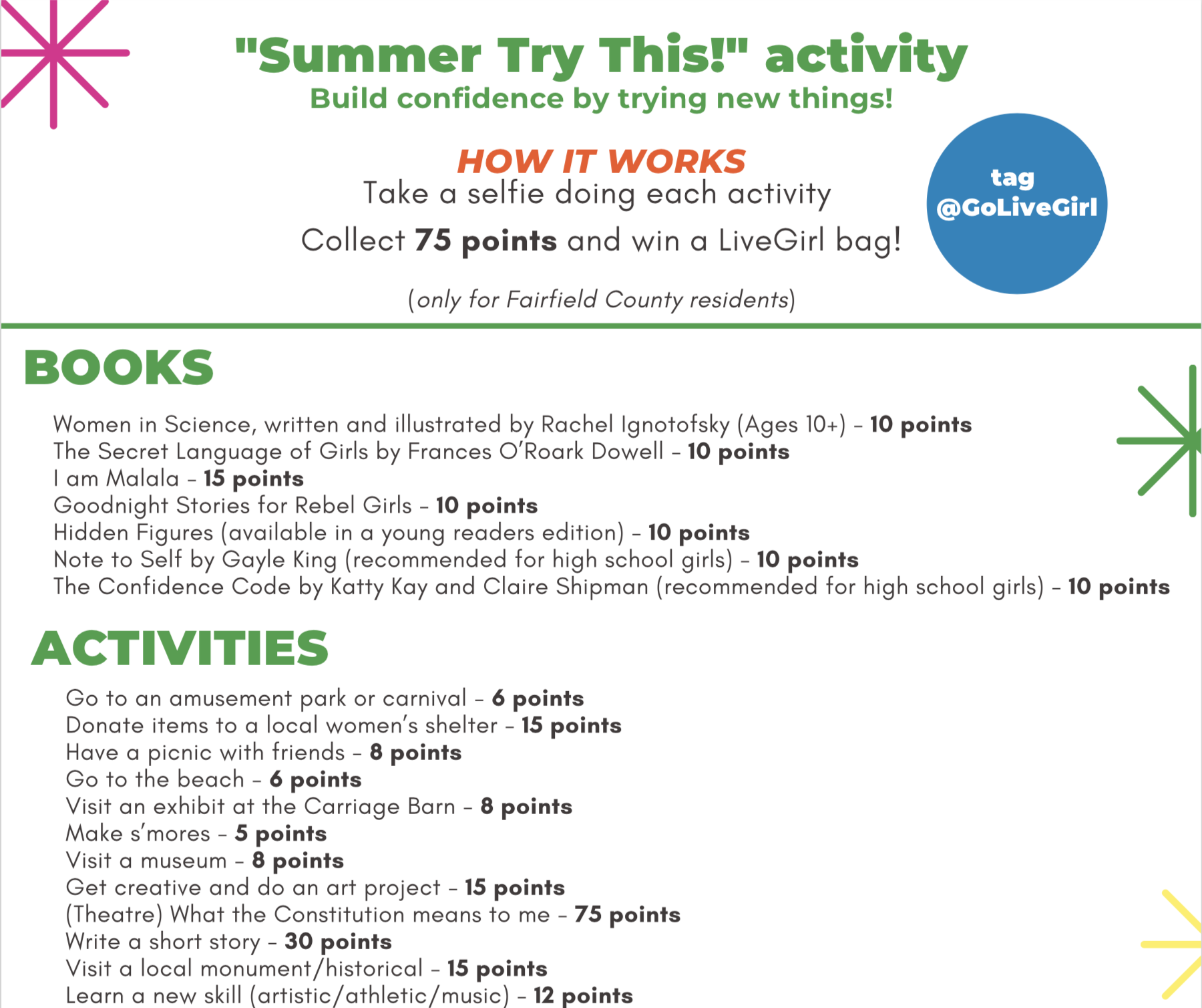 """Summer Try This!"" Activity -"