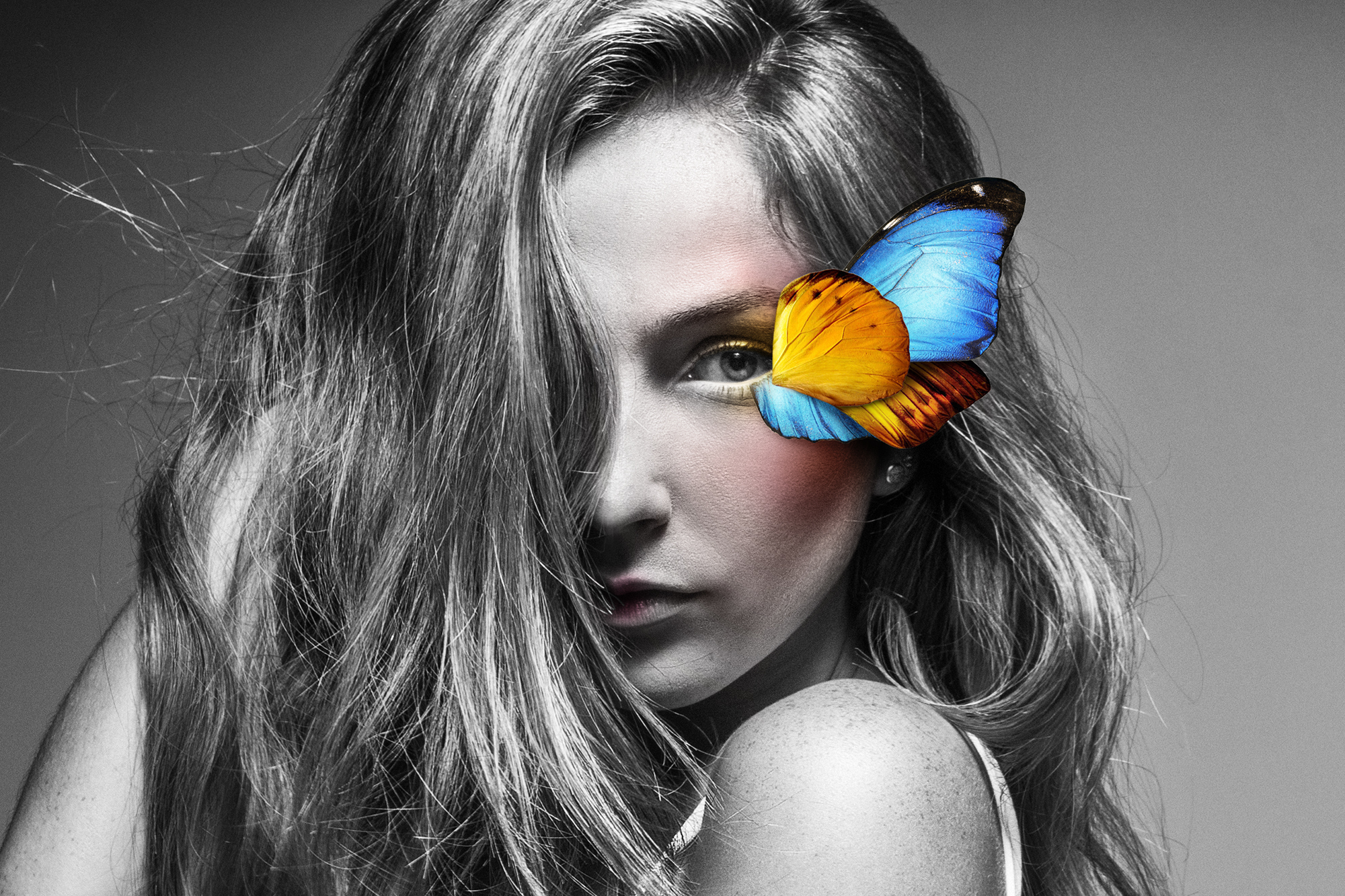 Hailie with Butterfly Wings, 2016