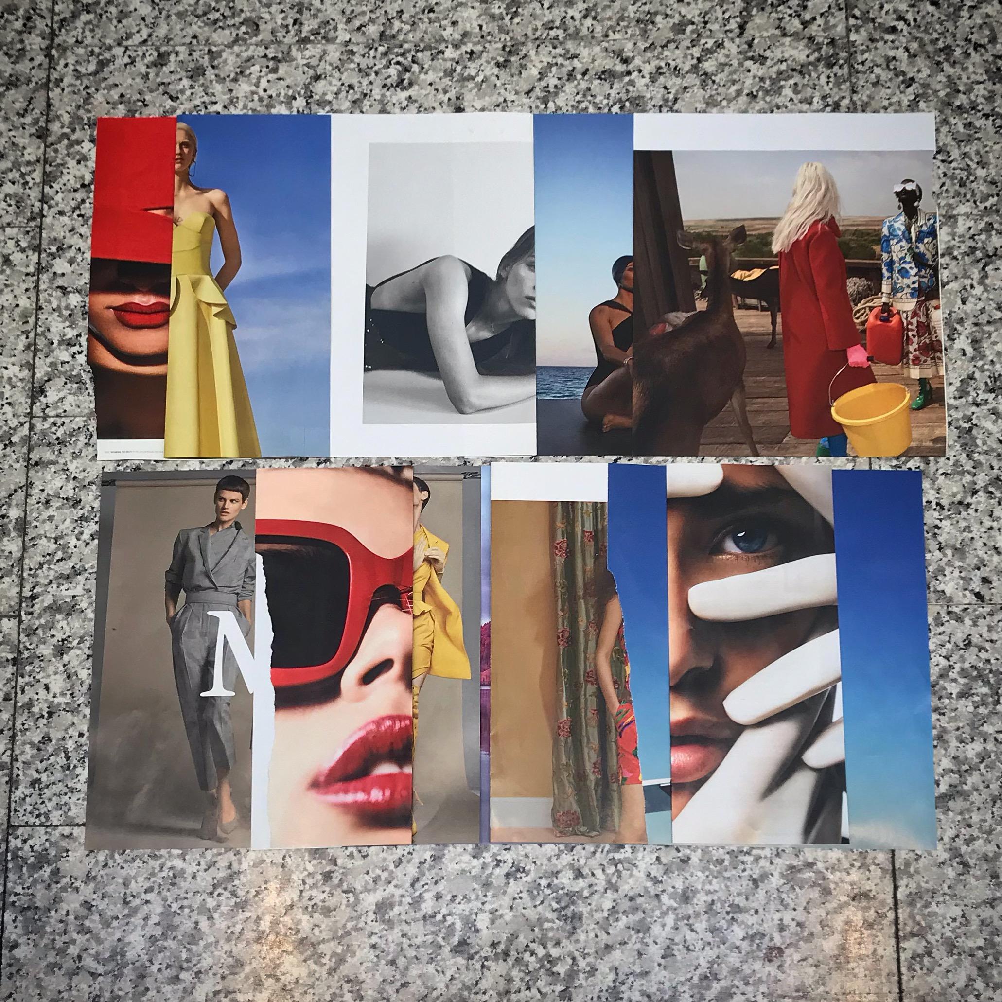 Airport Collage  Harper's Bazaar February 2019 Reimagined