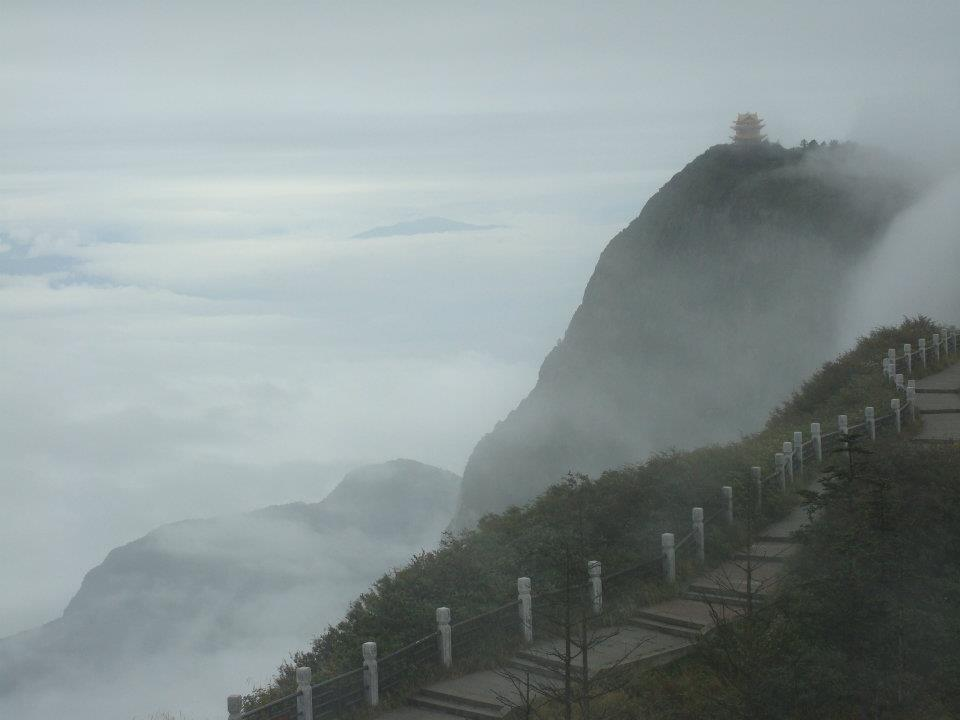 Mount Emei located in Sichuan Province
