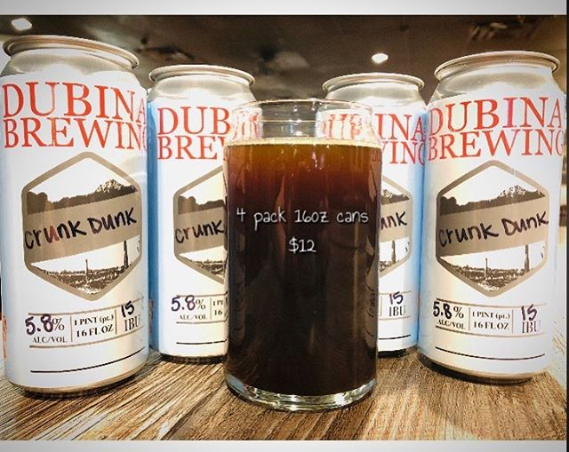 BEER RELEASE FRIDAY!!!! Crunk Dunk | Dunkelweizen  5.8% ABV | 15 IBU  4pack 16oz cans $12  Open 11am-11pm CHEERS! 🍻  #craftbeer #craftnotcrap #chooseazbrews #supportlocal #drinklocal #drinklocalcraftbeer #azbrewery #azcraftbeer #crowler #crowlers #dunkel #dunkelweizen