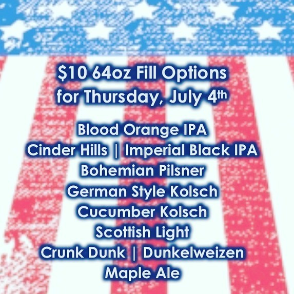 See you tomorrow 11-6pm  #brewery #azbrewery #glendale #glendaleaz #drinklocal #drinklocalcraftbeer #supportlocal #craftbeer #craftnotcrap #chooseazbrews #growler #4thofjuly