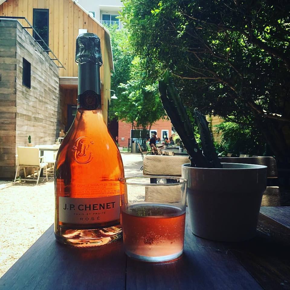 Sparkling ros é or straight from the tap in our yard bar!