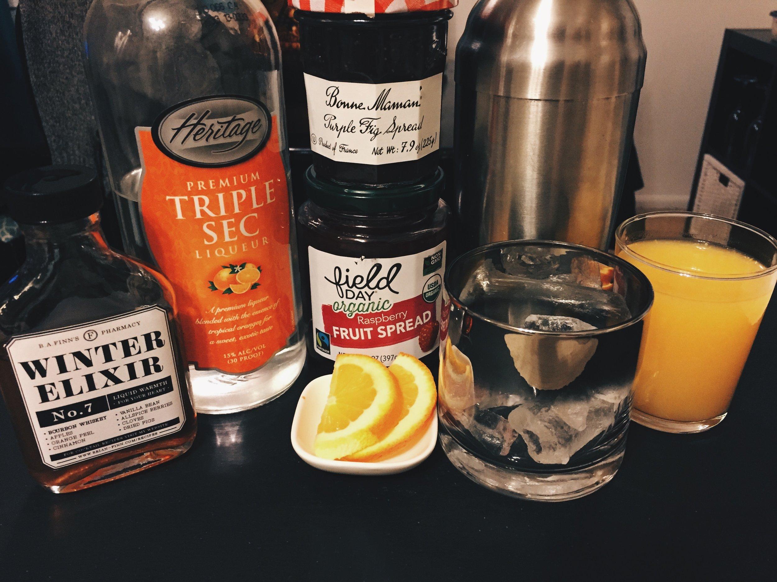 Winter Elixir Bourbon Smash -