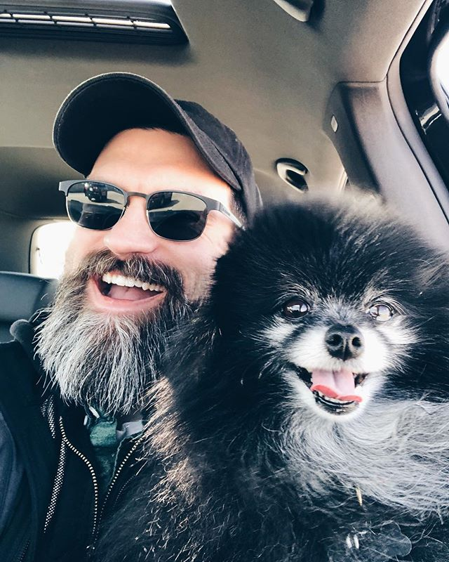 Happy 5th Birthday to my matching beard pup 🐺🎂