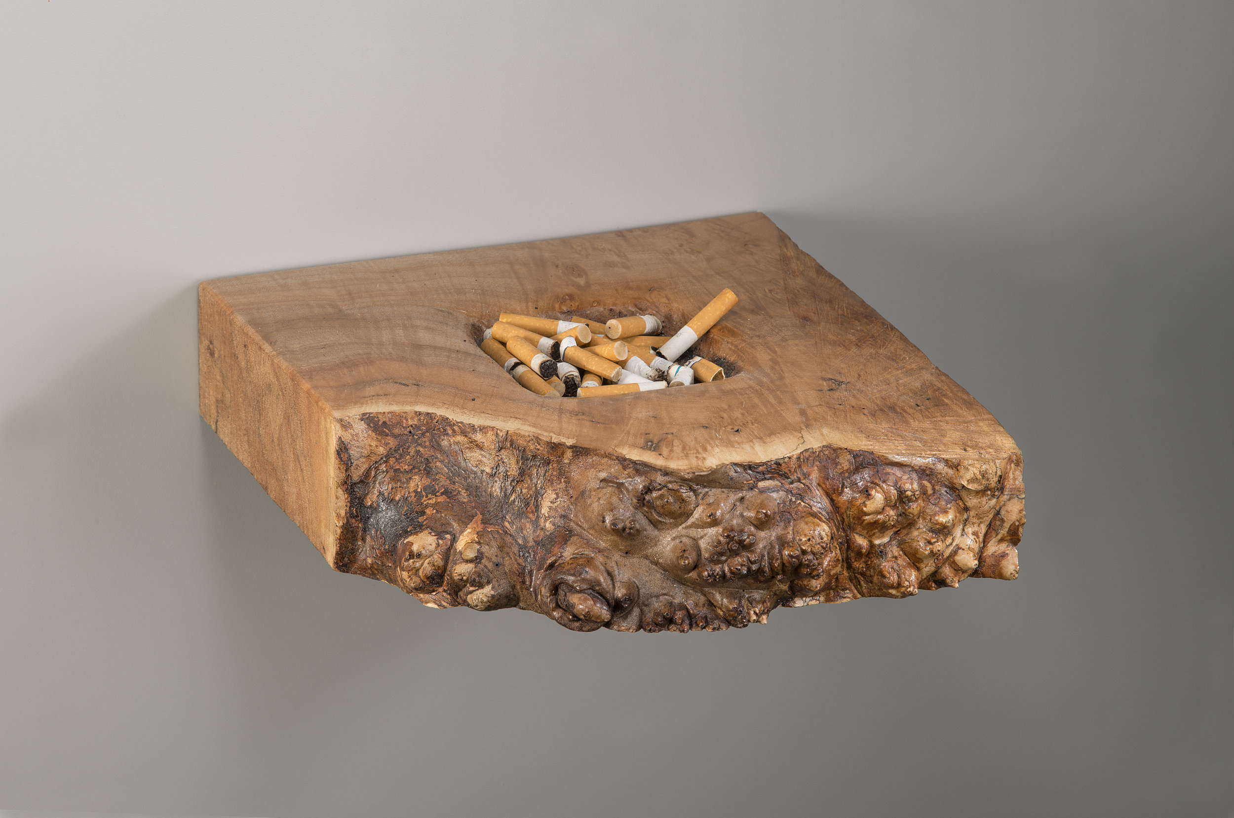 I made it myself  maple burl and cigarette butts  2017