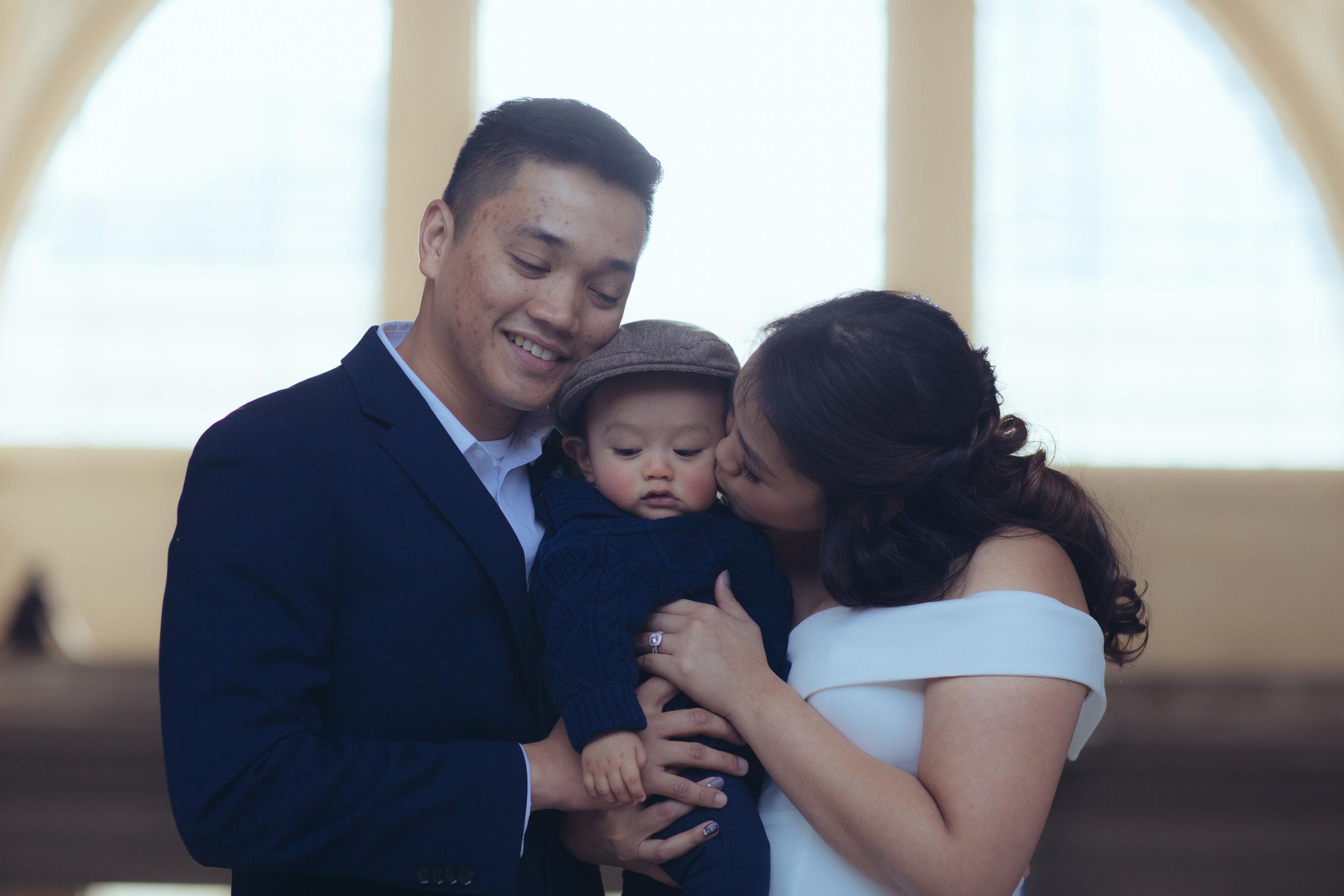 SF City Hall wedding family