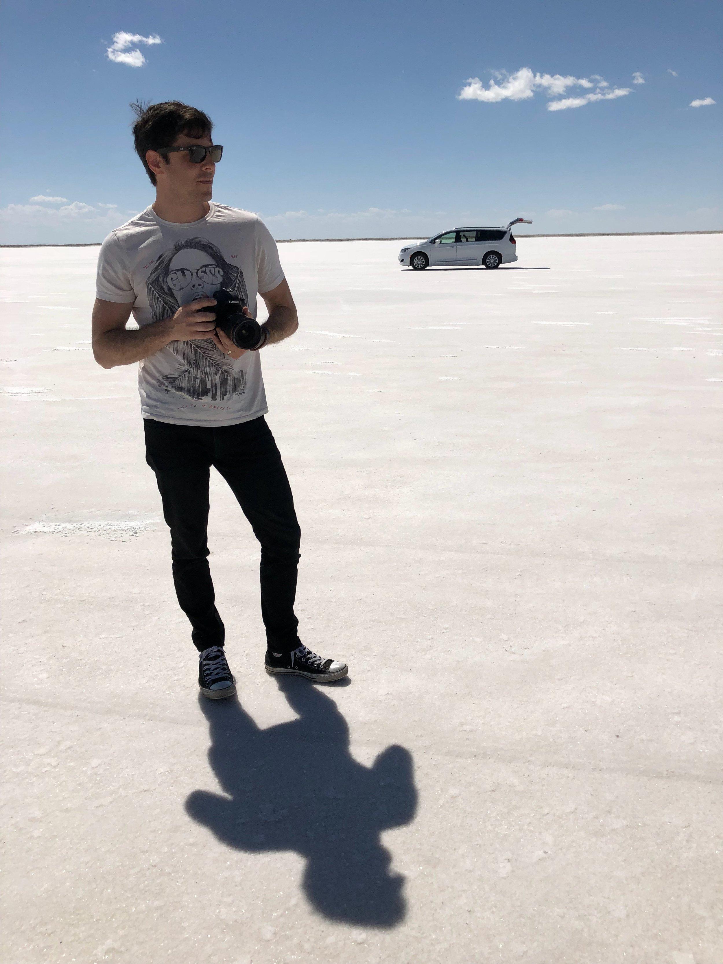 Somewhere at Bonneville Salt Flats