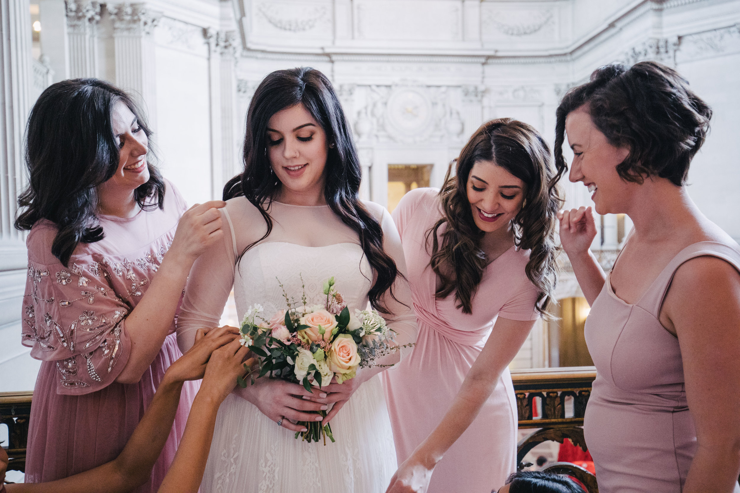 SF City Hall wedding photography_bride-makeup_flowers.jpg