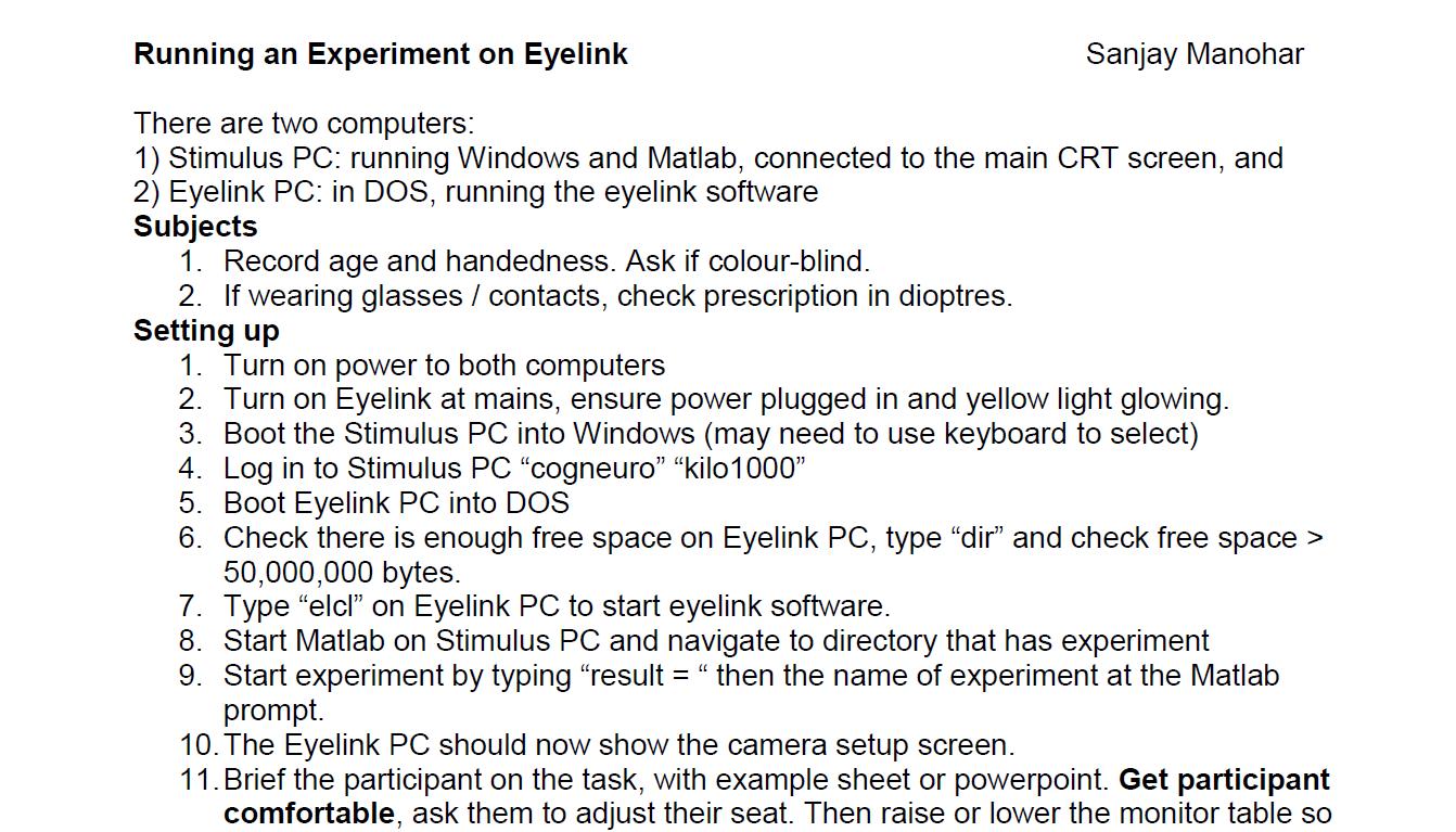 Eye-Tracking Help