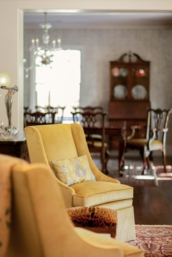 Custom Traditional Silk Velvet Chairs
