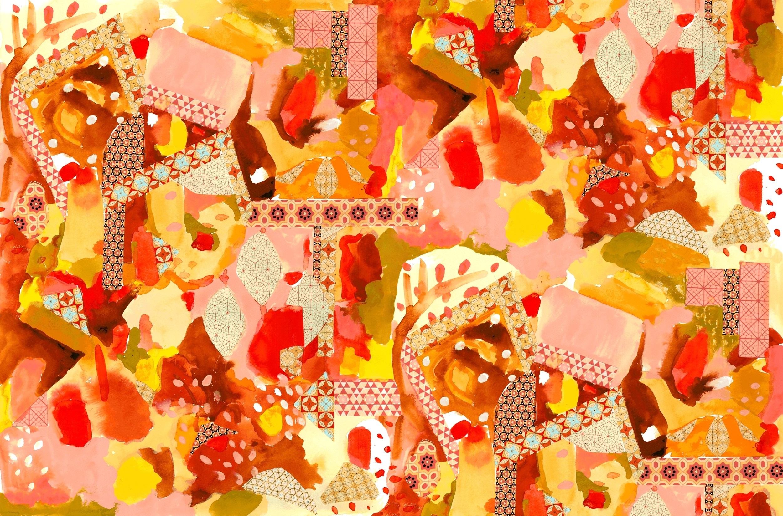 Yellow Pomegranates