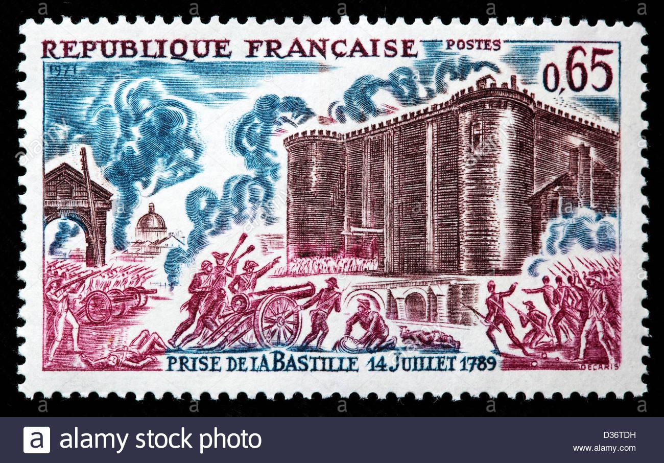 storming-of-the-bastille-postage-stamp-france-1971-D36TDH.jpg