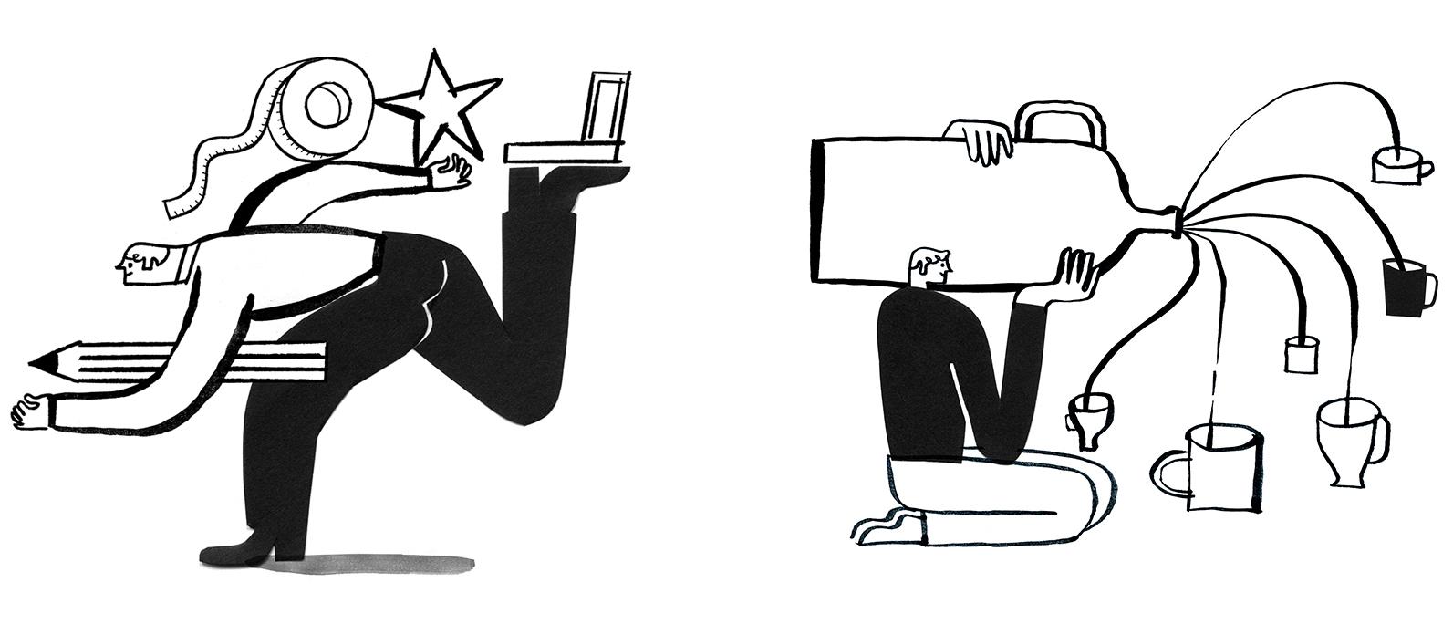 Illustrations for Mailchimp website
