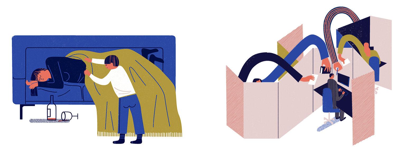 Spot illustrations / Psychology heute