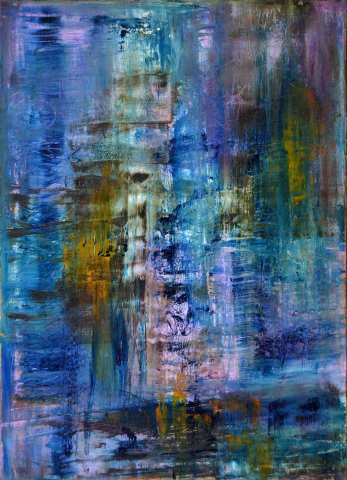 Three Blue Notes (SOLD)