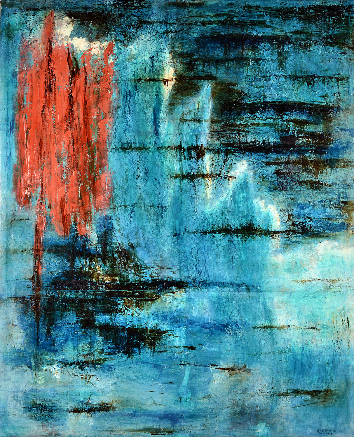 """""""Ode to the Sea"""" (Pablo Neruda) (SOLD)"""